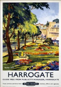 Harrogate, Yorkshire. British Railways (NR) Vintage Travel Poster by Kenneth Steel. 1953.